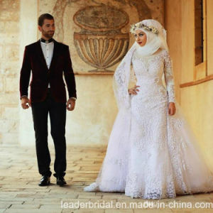 Lace Muslim Bridal Gowns Arabic Dubai Wedding Dress A2042 pictures & photos