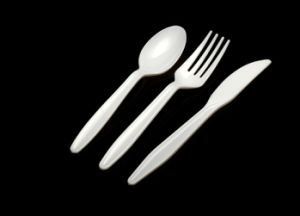 4g White Top Sale Plastic Cutlery for Dinner pictures & photos