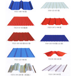 Profiled Roofing (color) Galvanized Steel Sheets pictures & photos
