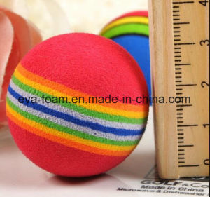 2016 Hot Sale Favorite Cute Colorful Crazy Promotional Happy EVA Rainbow Ball Toy for Kids pictures & photos