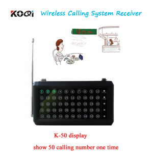 Wireless Call System Desktop Display Show 50 Groups Calling Number One Time pictures & photos