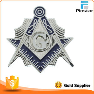 High Quality Custom Silver Plated Masonic Pin Badge pictures & photos