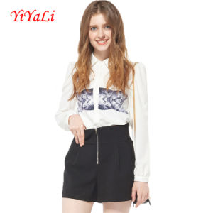 2016 Fashion Animal Printing Long Sleeve Women Blouse/Shirt