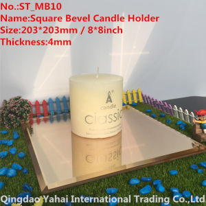 4mm Light Brown Bevel Glass Mirror Candle Holder pictures & photos