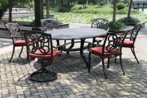 Luxe 7 PC Dining Set Garden Furniture pictures & photos