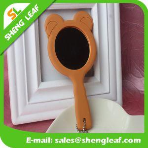 Customized Logo Design Rubber Makeup Mirror (SLF-RM009) pictures & photos