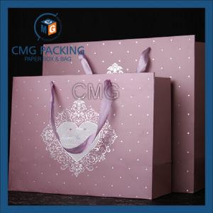 Classcial Style Silk Ribbon Matt Lamination Paper Bag (DM-GPBB-155) pictures & photos