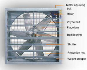 1.10kw Power Green House Drop Hammer Exhaust Fan pictures & photos