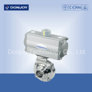Ss 304/316L Pneumatic Butterfly-Type Clamped Ball Valve for Food Industries pictures & photos