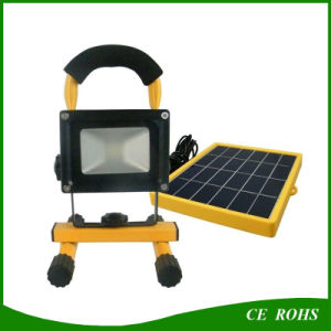 High Quality portable 10W Light Control Solar LED Floodlight with Solar Powered Panel pictures & photos
