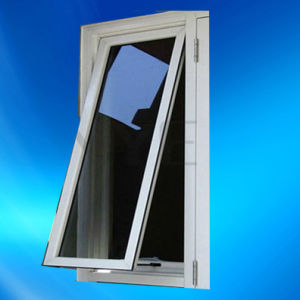 UPVC Top Hung Waterproof and Cost-Effective Glass Window