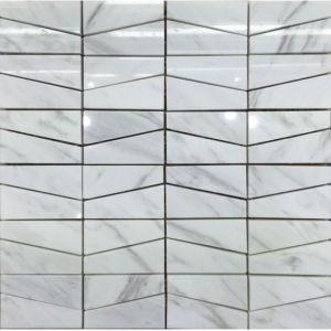 Classcal Modern Volakas Marble Mosaic, White Marble Mosaic China Manufacture Wall Tile