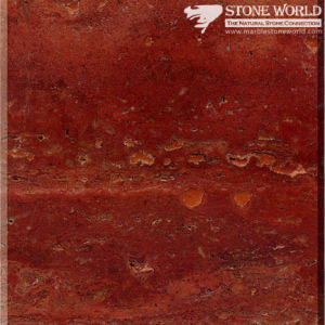 Polished Red Travertine Slabs for Flooring & Wall (MT083) pictures & photos