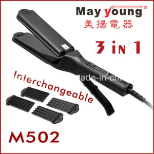 3 in 1 Rechangeble Hair Straightener and Hair Curling Iron pictures & photos