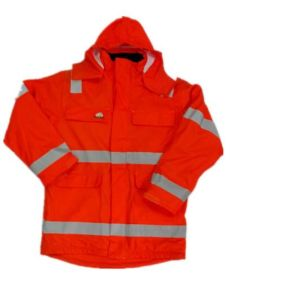 Orange Solid Working PU Waterproof Raincoat/Reflective Safety Clothing pictures & photos