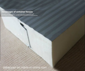 Heat Insulation Polyurethane Sandwich Panel for Container House pictures & photos