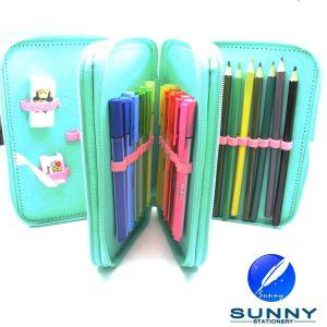 2015 Hot Sale Zip Pencil Case Stationery Set, Third Tier Pencil Case, School Bag Stationery Set pictures & photos