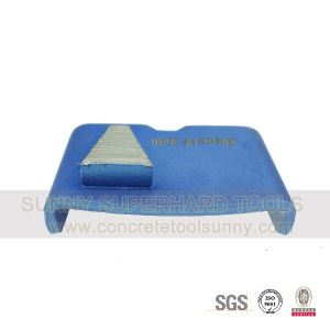 Triangle Segments Diamond HTC Floor Grinding Disc Tools Pad Shoe for Concrete Terrazzo Floors pictures & photos