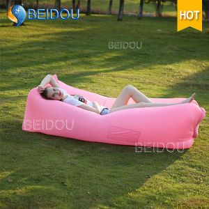 DIY Laybag Inflatable Banana Lay Bag Red Lazy Bean Bag Air Beach Bed Sofa Inflatable Sleeping Bags pictures & photos