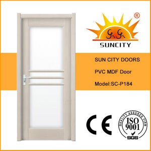Modern House PVC Wood Door Made in China (SC-P184) pictures & photos
