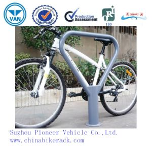 Zinc-Spraying Triangle Bollard Type Bike Rack Bike Stand pictures & photos