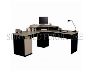 Popular Office Layout Designs Two-Layer Wooden Study Computer Table (SZ-OD550) pictures & photos
