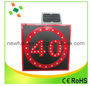 Solar LED Speed-Limit Board Traffic Warning Sign pictures & photos
