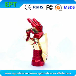 Hot Sale Iron Man Shape Flash Memory Disk USB Drive (EM010) pictures & photos