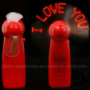 Mini Hand Held LED Light Fan with Logo Printed (3509) pictures & photos