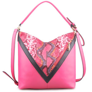 Guangzhou Supplier Designer Faux Leather Lady Patchwork Handbag Hobo Bag (LY05052) pictures & photos