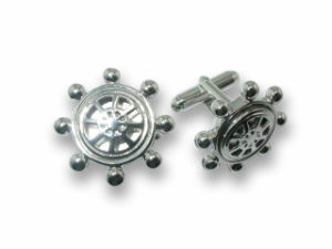 Unique Charm Silver Metal Jewelry Cufflink