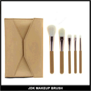 Wholesale 5PCS Cosmetic Brush Set with Portable Pouch
