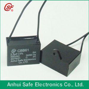 White Plastic Round Case Cbb61 35UF 250V Capacitor pictures & photos