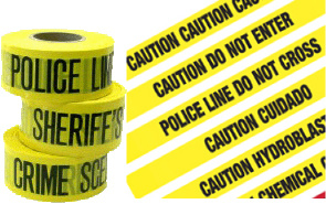 Police Line Caution Tape with SGS Certification Barricade Tape pictures & photos