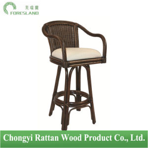 Natural Rattan Key West Indoor Swivel Barstool Counter Chair