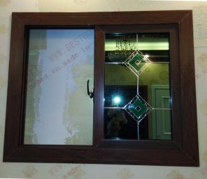 High Quality Woodgrain PVC/UPVC Sliding Window (BHP-SW15) pictures & photos