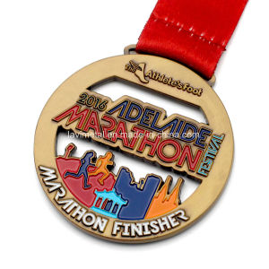 Custom Metal Antique Gold Marathon Finisher Sport Medal pictures & photos