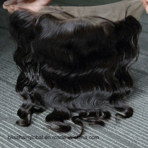 Brazilian Virgin Human Hair 13X4 Lace Frontal Free Part pictures & photos