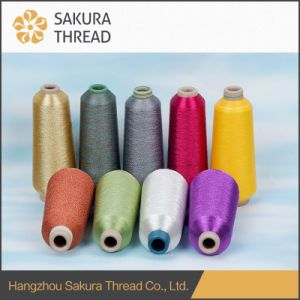 High Color Fastness Metallic Thread for Jacquard Fabric pictures & photos