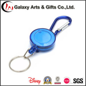 ABS Material ID Retractable Badge Holder Reel with Carabiner pictures & photos