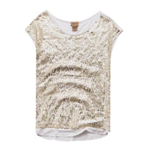 Women Shining Sequin T Shirts Short Sleeve Slim Tees in Bulk pictures & photos