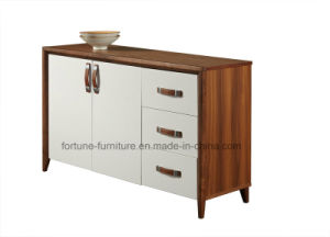 Modern Wood Walnut & White Sideboard (Camel 301) pictures & photos