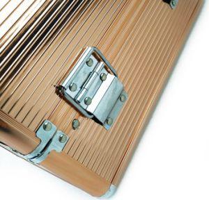Golden Makeup Case with Aluminum Case laptop Bag pictures & photos