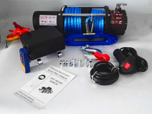 SUV 4X4 Recovery Winch Synthetic Rope Winch (12000lb) pictures & photos