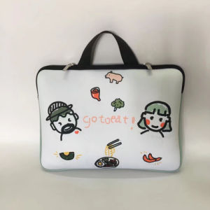 Fashion Light Printed Neoprene Laptop Bag with Handle pictures & photos