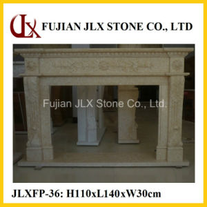 House Decorative Marble Natural Stone Fireplace pictures & photos