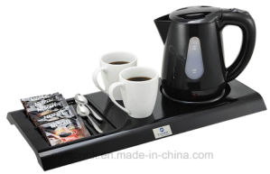 Hotel Electric Kettle with Melamine Tray pictures & photos
