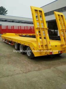 Hot Sale 40ton Low Flat Bed Semi Trailer Used for Transport Heavy Machinery pictures & photos