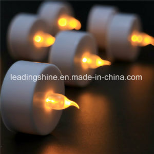 Soft Flame Battery Operated Flameless Yellow Tea Candle Light for Wedding Decoration