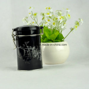 Custom Metal Round Airtight Chocolate Tin Box with Lock pictures & photos
